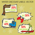 Winter Labels Stock Photography