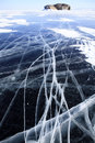 Winter lake Baikal Royalty Free Stock Photos