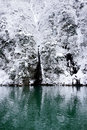 Winter of lake frosty and snowy karuizawa nagano japan Stock Photography