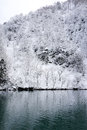 Winter of lake frosty and snowy karuizawa nagano japan Stock Image