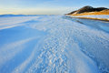 Winter, Lake Michigan Shoreline Stock Image