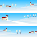 Winter Landscape Banners Stock Image