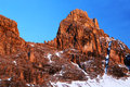 Winter landscape in the dolomites italy europe Royalty Free Stock Image