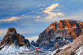 Winter landscape in the dolomites italy europe Royalty Free Stock Images