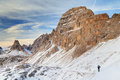 Winter landscape in the dolomites italy europe Stock Image