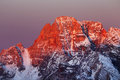 Winter landscape in the dolomites italy europe Royalty Free Stock Photo