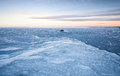 Winter landscape ice frozen baltic sea Royalty Free Stock Image