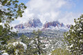 Winter landscape near Sedona Royalty Free Stock Photos