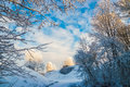 Winter landscape the picture is made in russia in the pskov area Stock Images
