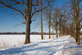 Winter landscape in Poland Royalty Free Stock Image