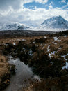 Winter landscape in the scottish highlands near fort william Royalty Free Stock Photos