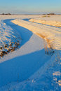 Winter landscpae of a ditch Royalty Free Stock Photography