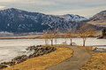 Winter is leaving ice breaking up on the missouri river in montana in early february what happened to Royalty Free Stock Photo
