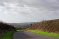 Winter in the lincolnshire wolds uk view over with an approaching storm Stock Photography