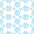 Winter little snowflake seamless pattern on the white background