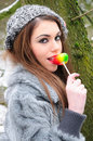Winter lolly Stock Photos