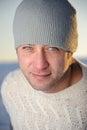 Winter male portrait. Royalty Free Stock Photos