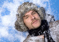 Winter man Royalty Free Stock Images