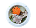 Winter melon soup with pork spare rib isolate on white background Royalty Free Stock Photo
