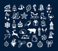 Winter Merry Christmas and Happy New Year Objects Decoration Elements Royalty Free Stock Photo