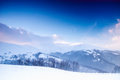 Winter mountain landscape Stock Images