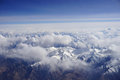 Winter mountain landscape in china aerial view of Stock Images