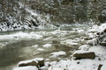 Winter mountain river Royalty Free Stock Photo