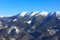 Winter mountain scene in Slovakia