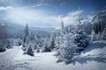 Winter mountain scenery Royalty Free Stock Photo