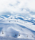 Winter mountain ski resort Stock Images