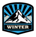 Winter mountain sticker Royalty Free Stock Photos