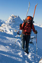 Winter mountaineering Stock Photo