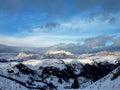 Winter mountains italy val gardena val di fassa sky resort photo taken on january the Royalty Free Stock Image
