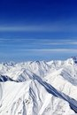 Winter mountains in nice day Stock Images