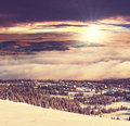Winter mountains in the norway Stock Images