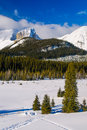 Winter in the mountains snowy scenery canadian rocky kananaskis country alberta canada Stock Photography
