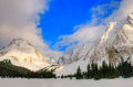 Winter in the mountains snowy scenery canadian rocky kananaskis country alberta canada Royalty Free Stock Photography