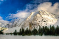 Winter in the mountains snowy scenery canadian rocky kananaskis country alberta canada Royalty Free Stock Image