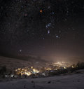 Winter night Royalty Free Stock Photo