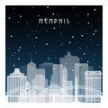 Winter night in Memphis.