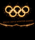The winter olympiad sochi russia olympics games of xxii Stock Images
