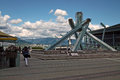 Winter olympics torch vancouver bc canada at the harbourfront Stock Photography
