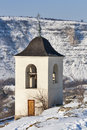 Winter orhei vechi monastery moldova bell tower in Stock Photo