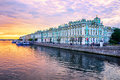 Winter Palace on Neva river, St Petersburg, Russia Royalty Free Stock Photo
