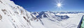 Winter panorama in Austrian Alps Royalty Free Stock Images