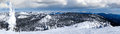 Winter panorama of big mountain montana overlooking glacier na in whitefish usa with national park in the background Stock Images