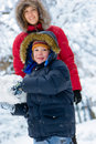 Winter. Parenthood Royalty Free Stock Photography