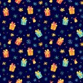 Winter pattern with cute piglet