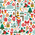 Winter pattern seamless with icons Royalty Free Stock Image