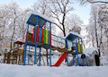 Winter playground Stock Photography